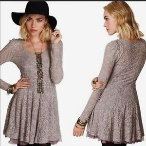 Free People Victorian Loves Lace Dress Size XS